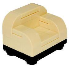 LEGO Furniture: Tan Arm Chair - Black Base   [minifigures,house,town,custom,set]