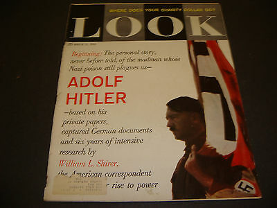 1960,Look Magazine,Adolf Hitler,The Personal Story,William L. Shirer Mar 15,1960