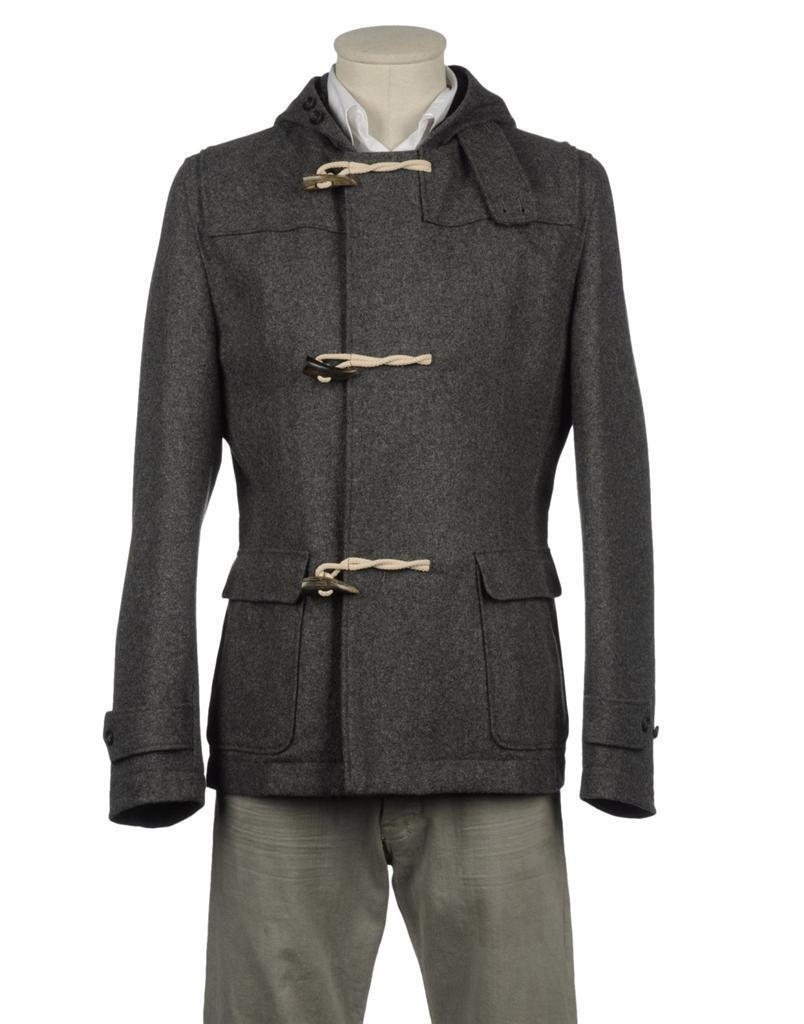 795 Grau Daniele Alessandrini Toggle Wool Coat Größe 42 | 52 | XL New grau NWT