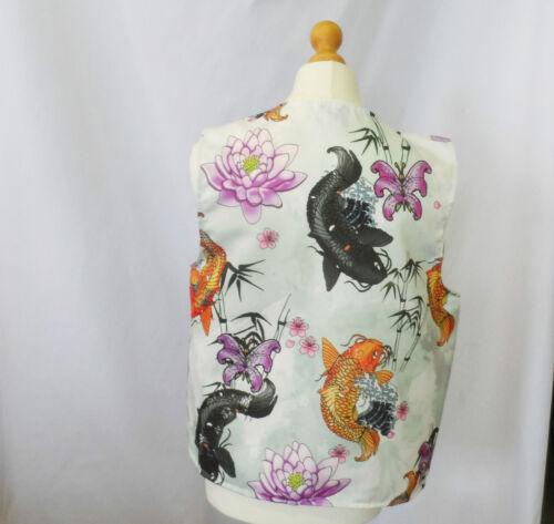 Novelty Waistcoat Koi Carp Fish Tattoo Fancy Dress Gift Funny Fun Party Festival