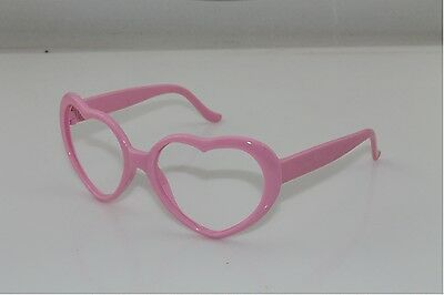 Red Pink Heart Shaped thick Glasses Frames retro Geek Love No Lens accessories