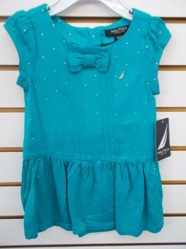 Infant /& Girls Nautica$34.50-$36.50 Coral or Teal Rayon Dress Size 12 Months-12