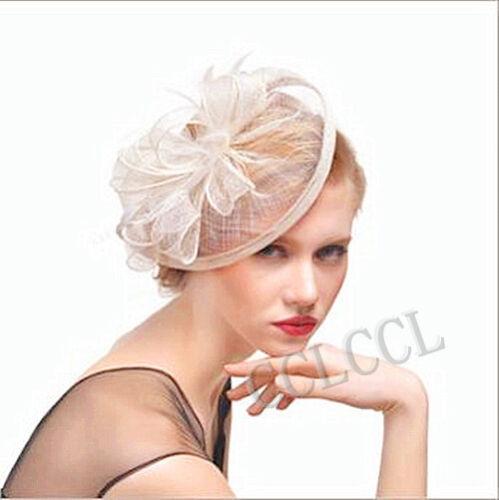 Ladies Flower HATINATOR Sinamay Fascinator Royal Ascot Race Wedding HenParty