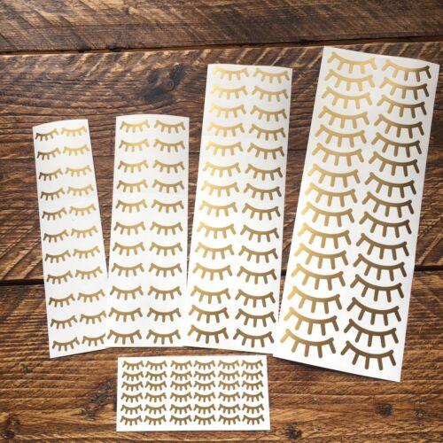 Sleepy Eyes Gold Unicorn EyeLash Sleeping Eyelashes Vinyl Decal Stickers Set