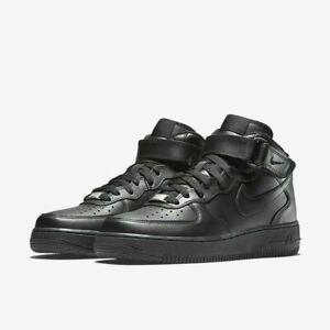 za kilka dni najlepiej sprzedający się klasyczne buty Details about Womens Nike Air Force 1 07 Mid 366731 001 Black/Black NEW  Size 5.5