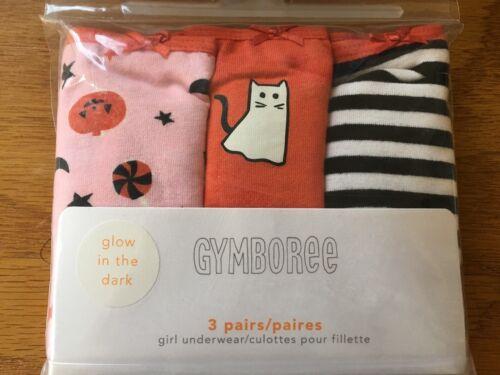 NWT Gymboree Girls Panties Underwear 3 pairs pack Halloween Glow in the Dark