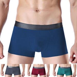 Sn-Taglie-Forti-Sexy-Uomo-senza-Cuciture-Traspirante-Mutande-Boxer-Mutandine