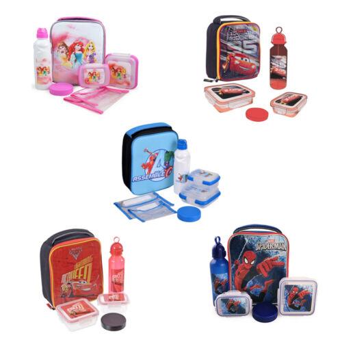 Kids Insulated Lunch Kit Set for Boys//Girls 10 Inch Disney Marvel Avengers Car