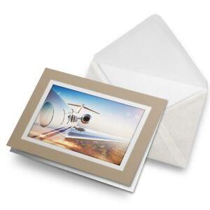 Greetings-Card-Biege-Luxury-Private-Jet-Airplane-Plane-21816
