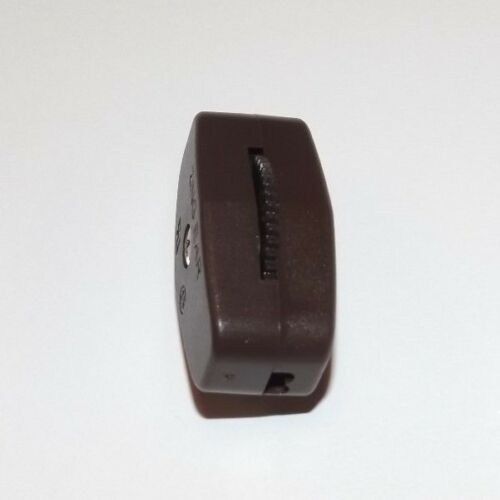 BROWN ON//OFF LAMP CORD SWITCH FOR 18//2 SPT1 LAMP CORD LAMP PART NEW 30096J