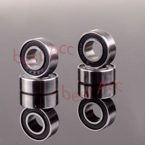 6*13*5 MM 6x13x5mm RC Car 4PCS 686RS 686-2RS Black Rubber Sealed Ball Bearing