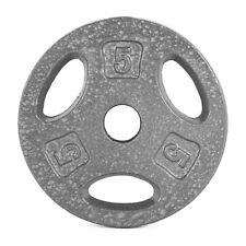 """2x2.5lb Standard Grip Barbell Weight Plates 1/""""hole cap 5lb total Dumbbell"""