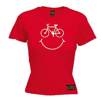 Cyclisme T Shirt vélo sourire visage Logo Nouveauté Fitness Sport Gym Happy