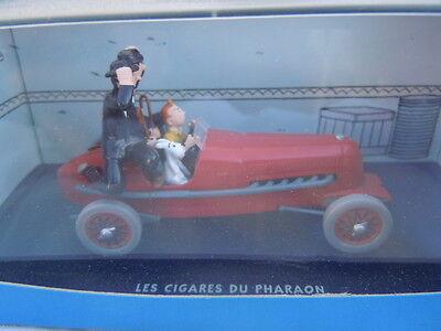 N2  bolide rouge cigares pharaon boite certificat En Voiture Tintin
