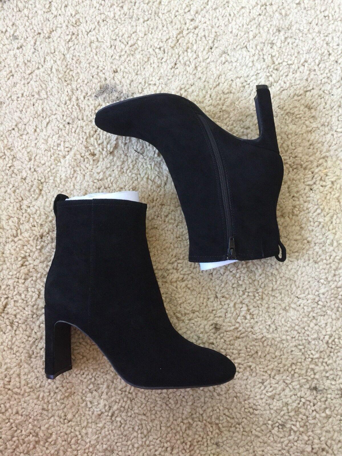 Jeffrey Campbell femmes noir velvet suede Chapel Curved Heel démarrageie sz 9.5 170
