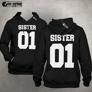 Details zu Sister 01 Pulli Deluxe Best Friends Beste Freundin Hoodie Pulli Geschenk Sweat S