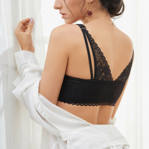Details about  /Sexy Breathable Front Closure Women Bras Lace Deep V Lingerie Brassiere Bralette