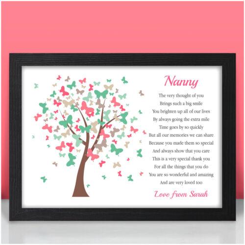 PERSONALISED Nan Nanny Birthday Keepsake Gifts for Mummy Mum Her Nanna Christmas