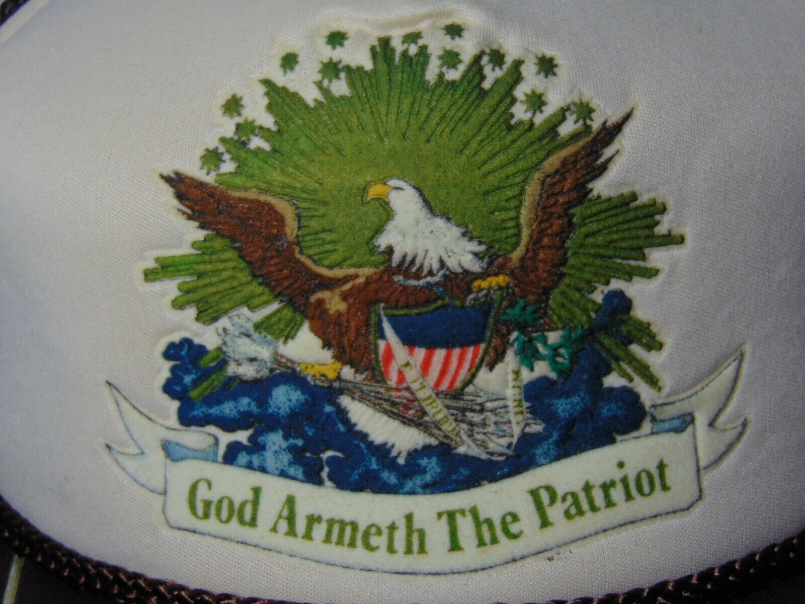 Old Vintage 1980s God Armeth The Patriot War Hero… - image 3