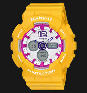 Casio-Baby-G-BA-120-Analog-Digital-Yellow-x-Pink-Accents-White-Dial-Watch