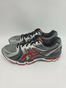 Asics-Gel-Kayano-18-T200N-Mens-Size-14-Running-Walking-Sneakers-Shoes-Gray-Red