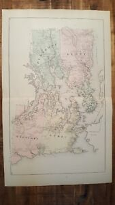 Perry Maine Map.Antique Colored Map Of Lubec Trescott Perry Maine George N Colby