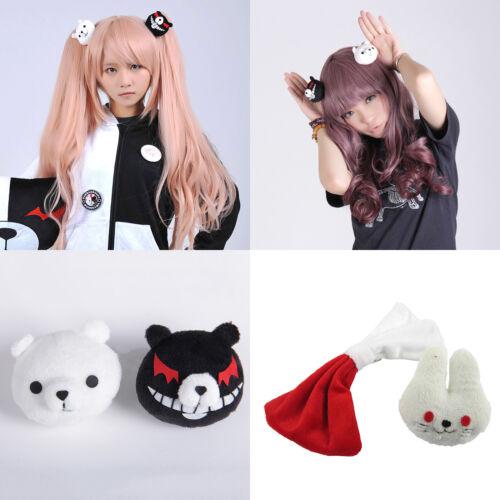 Dangan Ronpa Enoshima Junko Mono Kuma Bear Hairpin Rabbit Hair Clip Cosplay