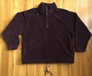ALPS Fleece Pullover Purple Kangaroo Pocket L XL Unisex Men's ...