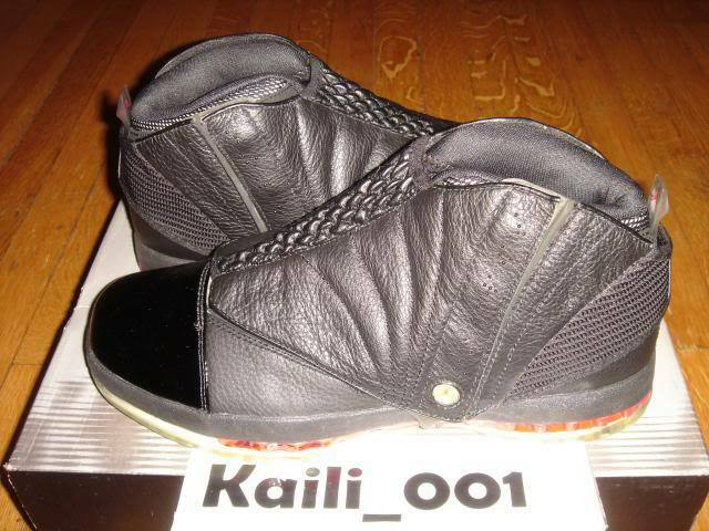 Nike Air Jordan 16 XVI 3/4 HI Men Size 11.5 Black Varsity OG Retro 136059-061 A