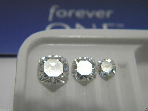 Forever One Cushion Cut 1 to 3 carat Loose Jewels Charles Colvard Colorless DEF