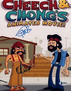 Cheech-Marin-amp-Tommy-Chong-Signed-Autographed-8x10-Photo-Beckett-BAS-COA