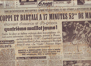 journal l 39 quipe du 04 07 49 cyclisme tour de france 1949 marcelak bobet ebay. Black Bedroom Furniture Sets. Home Design Ideas