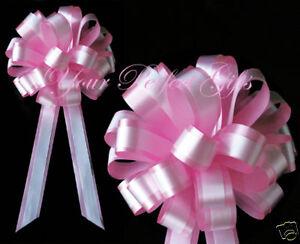 ROSE-BABY-PINK-WHITE-WEDDING-8-034-PULL-PEW-BOWS-BRIDAL