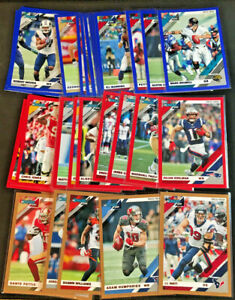 2019-Donruss-Football-Parallel-Base-Cards-Bronze-Red-Blue-1-250-You-Pick-card