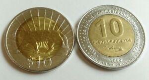 Uruguay 10 Pesos (Puma) 2011 & URUGUAY, 10 Pesos 2000 José Artigas Two UNC Coin - España - Uruguay 10 Pesos (Puma) 2011 & URUGUAY, 10 Pesos 2000 José Artigas Two UNC Coin - España