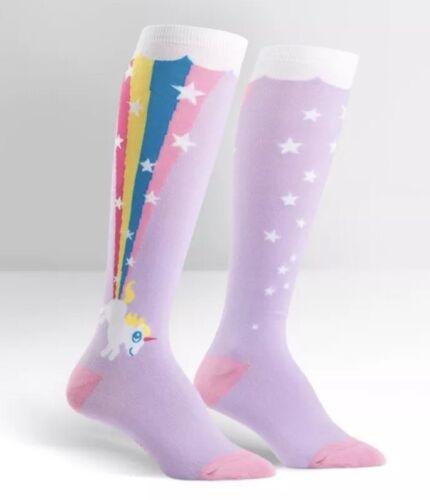 Sock it to Me Derby funky socks Rainbow Blast Unicorn Knee High Socks