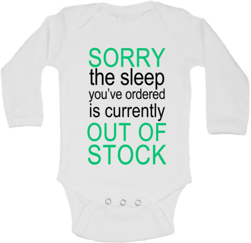 Sorry The Sleep You Ordered is Currently Out of Stock Long Sleeve Baby Vest Boys