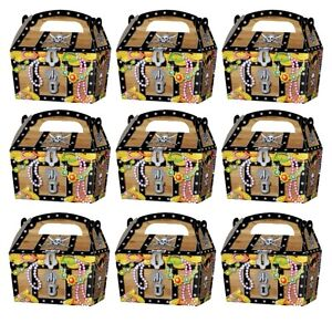 10-x-PIRATE-TREASURE-CHEST-PARTY-TREAT-CAKE-FOOD-BOXES-FAVORS-GOODY-BAGS-395-905