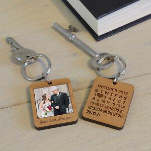 Photo Keyring with Message Custom Keychain Christmas Gift