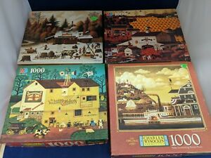 Charles Wysocki Puzzles 1000 Pieces Lot Of 4