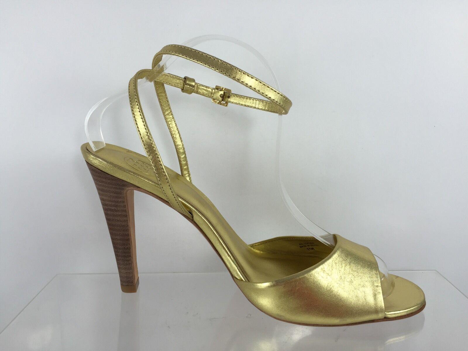 Tory Burch Zapatos De Tacón Tacón Tacón Cuero Para Mujer oro Metálico 11 M  diseñador en linea
