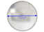 Qty 1 RV Chrome-Plated Steel Americana Baby Moon Trailer Wheel Center Cap