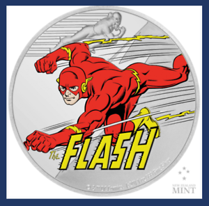 2020 Niue New Zealand Justice League 60th Anniversary The Flash 1oz Silver DC