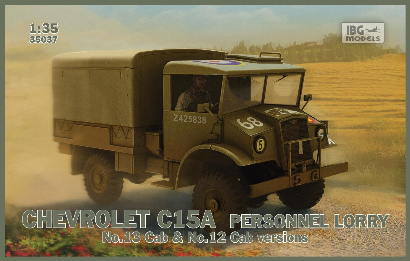 IBG 1 35 35037 WWII British Chevrolet C15T Personnel Lorry (No.13 & No.12 Cab)