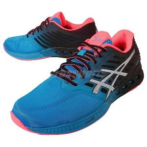 Asics-FuzeX-Blue-Black-Red-Mens-Running-Shoes-Trainers-Gel-T639N-4201