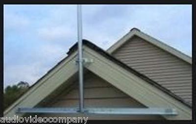 Antenna Mast Pipe 5/' Outdoor Roof Mount Masting 5-foot Installation TV Dish FM