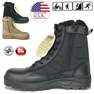d7fd2d5427a Details about SWAT Men's Tactical Duty Boots Army Military Work Boot Hiking  Shoes