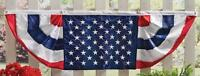 5-ft Patriotic Stars & Stripes Red, White & Blue Outdoor Bunting 60 X 18 Nylon