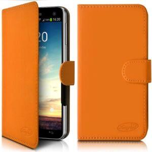 Housse Etui Portefeuille Universel S Orange pour Lenovo C2