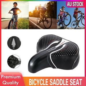 Soft Unisex Wide Big Bum Sprung Bike Bicycle Gel Cushioned Saddle Seat Comfort